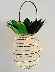 Недорогие -1 шт. Привело творческий ананас форма ночной свет партия декоративный теплый белый солнечной энергии<5 v