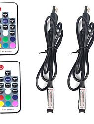 Недорогие -2pcs 12 V / 5 V / Работает от USB WiFi / Дистанционно управляемый / Аксессуары для ламп пластик Контроллер для RGB LED Strip Light / для светодиодной полосы света
