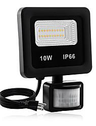 Недорогие -1шт 10 W LED прожекторы Водонепроницаемый / Новый дизайн / Монитор обнаружения движения Тёплый белый / Белый 85-265 V двор / Сад 20 Светодиодные бусины