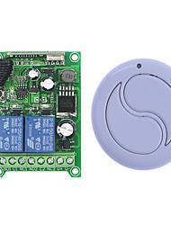 Недорогие -dc12v 2-канальный пульт дистанционного управления с обучающим кодом / реле 10a, кратковременный приемник / режим переключения / каждый канал без соединения 433 МГц