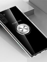 Недорогие -Кейс для Назначение SSamsung Galaxy Note 9 / Note 8 / Galaxy Note 10 Кольца-держатели Кейс на заднюю панель Прозрачный ТПУ / Металл