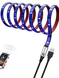 Недорогие -Brelon 5050smd 10мм RGB световой бар 2м 60led фоновый свет ТВ Bluetooth приложение управления с регулируемой яркостью эпоксидной смолы водонепроницаемый красный клей 5v