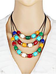 Недорогие -Жен. Смола Ожерелья с подвесками геометрический Шарообразные Мода Резина Цвет радуги 50+6 cm Ожерелье Бижутерия 1шт Назначение Повседневные