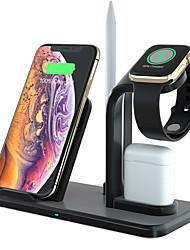Недорогие -10 Вт 4-в-1 быстрое беспроводное зарядное устройство для док-станции быстрая зарядка для iphone xr xs max 8 для apple watch