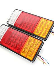 Недорогие -2 шт. 44 светодиодные задние фонари стоп-сигналы пластиковые указывают лампа прицепа автомобиля водонепроницаемый фонарь 12 В 24 В
