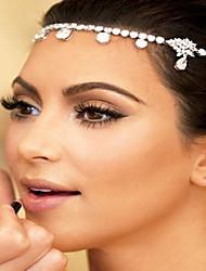 Недорогие -Жен. Мода Свадьба Принцесса Латунь Циркон Серебрянное покрытие Украшения для волос Заколки для волос Свадьба Для вечеринок