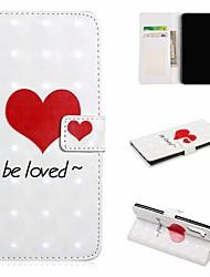 Недорогие -Кейс для Назначение SSamsung Galaxy Galaxy Note 10 / Galaxy Note 10 Plus Кошелек / Бумажник для карт / Защита от удара Чехол С сердцем Кожа PU