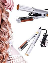 Недорогие -прямой парикмахерские инструменты двойного назначения электрический щипцы для завивки волос дома