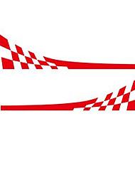 povoljno -trkaća zastava vinil naljepnica automobila styling vrata bočne suknje pruge auto ukras tijela naljepnica-crvena