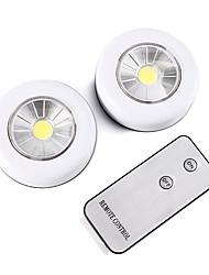 Недорогие -Brelong беспроводной пульт дистанционного управления светодиодный ночник 2 шт. кабинет свет с питанием от батареи свет в помещении настенный светильник