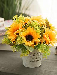 povoljno -Umjetna Cvijeće 1 Podružnica Klasični Europska Pastoral Style Suncokreti Cvjeće za stol