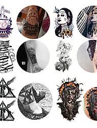 Недорогие -6 шт. / Лот водонепроницаемый татуировки наклейки бикини пион татуировки&усилитель; боди-арт цветок роза татуировка поддельная передача воды татуировка временная татуировка нога рука