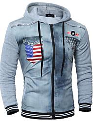 povoljno -Muškarci Osnovni hoodie jakna Geometrijski oblici