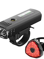 Недорогие -Светодиодная лампа Велосипедные фары Набор аккумуляторных ламп для велосипеда Передняя фара для велосипеда Задняя подсветка на велосипед Горные велосипеды Велоспорт / Интеллектуальная индукция / USB