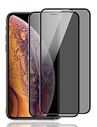 Недорогие -защитная пленка для iphone x / xs / xr / xs max конфиденциальность антишпионское закаленное стекло 1 передняя защитная пленка для ПК высокое разрешение (hd) / твердость 9 ч