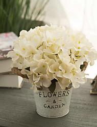 povoljno -Umjetna Cvijeće 1 Podružnica Klasični Europska Pastoral Style Hortenzije Cvjeće za stol