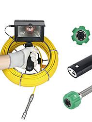 Недорогие -30 м 4.3 дюймов 17 мм портативные промышленные трубы инспекции канализации видеокамера ip68 водонепроницаемый дренажная труба системы канализации инспекции камеры системы 1000 твл камера с 8 шт.