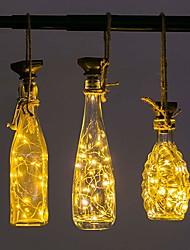 Недорогие -винные фонари loende с пробкой на солнечной батарее 2м 20 светодиодные пробковые фонари для бутылки 8 упак.