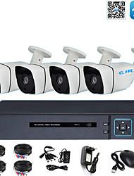 Недорогие -4-канальный комплект оборудования мониторинга магазина AHD коаксиальный 2 миллиона 1080 P инфракрасного ночного видения HD