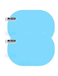 Недорогие -2 шт. / Компл. Анти-туман автомобильное зеркало окна водонепроницаемый непромокаемая прозрачная пленка с антибликовым покрытием автомобиля зеркало заднего вида защитная пленка модели вокруг 95 * 95 мм