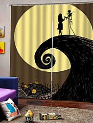 Недорогие -Украшение дома 3d печать вечеринка хэллоуин тема испугалась душа фон шторы утолщение затемнения пользовательские шторы для дома decro