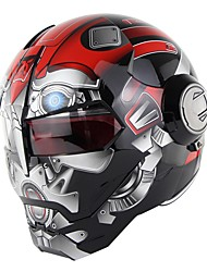Недорогие -Персонализированный мотоцикл Ironman шлем флип вверх мотоцикл шлем робот стиль с открытым лицом шлем точка одобрения зоман sm515
