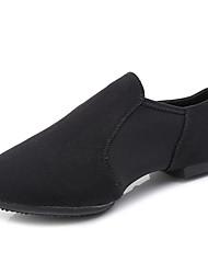 Недорогие -Жен. Танцевальная обувь Полотно Обувь для джаза На плоской подошве На плоской подошве Черный