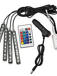 Недорогие -RGB светодиодные украшения подсветка пульта дистанционного управления красочные музыка ритм лампа
