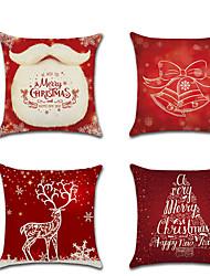 お買い得  -1 個 リネン 枕カバー, クリスマス 現代風 クラシック 欧風 枕を投げます