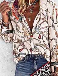 Недорогие -Жен. Рубашка Геометрический принт Лиловый