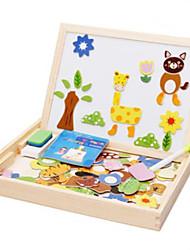 Недорогие -Muwanzi Игрушка для рисования Игрушечные планшеты для рисования Конструкторы Деревянные пазлы Магнитная мольберт Обучающая игрушка