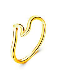 Недорогие -Жен. Кольцо 1шт Золотой Серебряный Розовое золото Сплав Простой корейский Мода Повседневные Офис Бижутерия Классический Cool