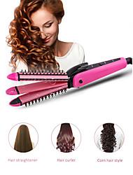 Недорогие -3in1 выпрямитель для волос щипцы для завивки гофрокартона инструменты для укладки