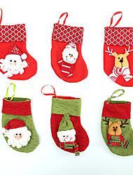 Недорогие -Мешок чулка рождества 6pcs для украшения дома / украшений праздника Нового Года