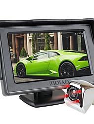 Недорогие -Ziqiao 4,3-дюймовый TFT ЖК-экран автомобиля монитор вспомогательная парковка ик ночного видения камера заднего вида
