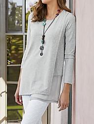 billige -T-skjorte Dame - Ensfarget Svart