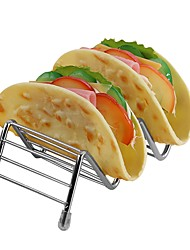 Недорогие -держатель для еды из нержавеющей стали дисплей тако стоит держатель для еды