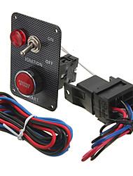 Недорогие -12v гоночный автомобиль комплект переключателя зажигания карбоновая панель переключателя запуска двигателя кнопка