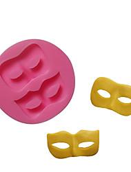 Недорогие -1 шт. Инструменты для выпечки хэллоуин ну вечеринку маска торт торт жидкий силикон литья шоколад мыло ручной работы плесень
