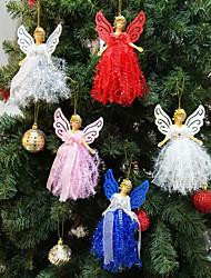 Недорогие -Рождественский плюшевый ангел кулон дерево очарование ребенка милый плюшевый подарок куклы