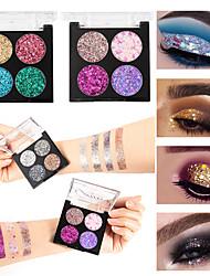Недорогие -четыре цвета формы порошок лука водонепроницаемый прочный блестки тени для век макияж косметика