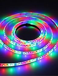Недорогие -5 м usb гибкий светодиодные полосы света / полосы света RGB 300 светодиодов smd3528 3 ключа управления / 21 световые эффекты / RGB водонепроницаемый / партия / декоративные 5 В 1 шт.
