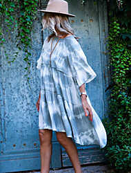 Недорогие -Жен. Классический С летящей юбкой Из двух частей Платье - Однотонный Ассиметричное