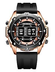 Недорогие -Муж. Спортивные часы Кварцевый Спортивные силиконовый Черный 30 m Защита от влаги Cool Цифровой Мода - Черный / Серебристый Черный / Розовое золото Два года Срок службы батареи