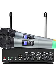 Недорогие -S-10 UHF двойной беспроводной микрофон ручной для домашнего кинотеатра KTV песни пение школа встреча микрофон речи