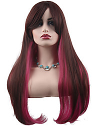 cheap -Ombre Natural Straight Style Middle Part Capless Wig Synthetic Hair 23 inch Women's Women / Synthetic / Best Quality Ombre Wig Long Natural Wigs