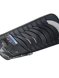 Недорогие -роскошный кожаный автомобиль многофункциональный солнцезащитный козырек длинный участок cd dvd кронштейн сумка карта карман карманные очки кошелек карта сумка
