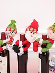 Недорогие -1 шт. Рождественские аксессуары бутылка вина санта-клаус снеговик бутылка комплект новогодний рождественский ужин украшения