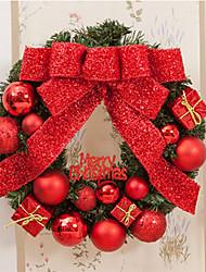 お買い得  -PVCクリスマスパーティー赤ポインセチア松ドア壁装飾メリークリスマスクリスマスツリーの装飾