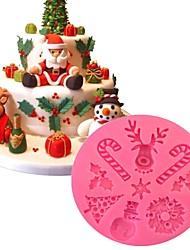 Недорогие -Новогодняя тема силиконовые формы для выпечки